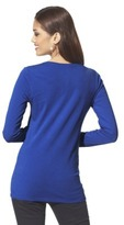 Mossimo Women's Long Sleeve Lightweight V Tee - Assorted Colors