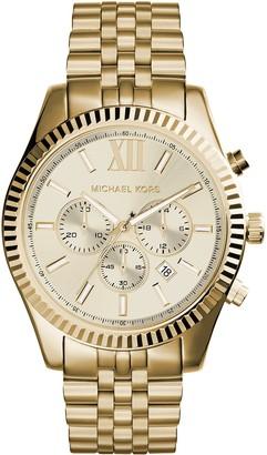 Michael Kors Men's MK8281 Quatrz Stainless Steel Lexington Gold Watch