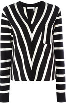 Chloé striped knitted sweater