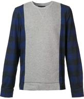 Mostly Heard Rarely Seen plaid sleeves sweatshirt