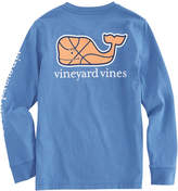 Vineyard Vines Boys Long-Sleeve Basketball Character Whale Pocket T-Shirt