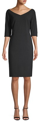 Lafayette 148 New York Wool-Blend Knee-Length Dress