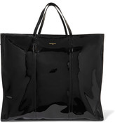Balenciaga Bazar Xl Patent-leather Shopper - Black