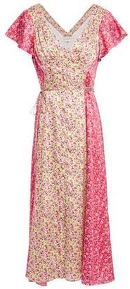 Cinq à Sept Jessica Two-tone Floral-print Satin-twill Midi Dress