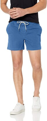 "Goodthreads Men's Slim-Fit 5"" Inseam Pull-On Comfort Stretch Canvas Short Bright Blue XXX-Large"