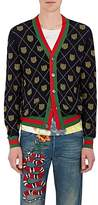 Gucci Men's Tiger Face Wool V-Neck Cardigan