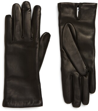 Max Mara Wool Lined Leather Gloves