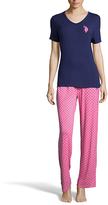 U.S. Polo Assn. Evening Blue & Pink Dot Pajama Set