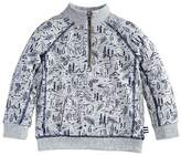 Splendid Boys' Woodland-Bear-Print French Terry Sweater - Little Kid
