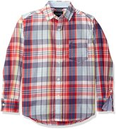 Nautica Big Boys Long Sleeve Plaid Shirt