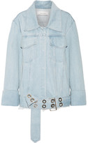 Marques Almeida Marques' Almeida - Oversized Frayed Denim Jacket - Light denim