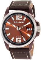 Police Men's LANCER PL.12591JSBNS/65 Calf Skin Analog Quartz Watch with Dial