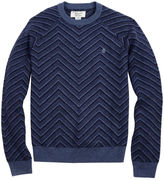 Original Penguin Raglan Textured Exploded Herrinbone Crew Sweater