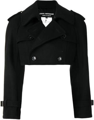 Junya Watanabe Cropped Double-Breasted Wool Jacket