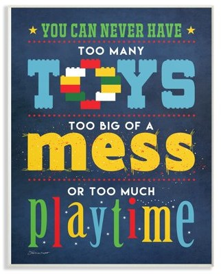 The Kids Room by Stupell Toys Mess And Playtime Wall Plaque Art, 10 x 0.5 x 15