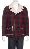 Saint Laurent 2016 Shearling Plaid Wool Jacket w/ Tags