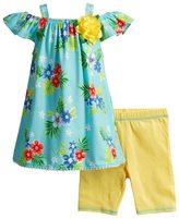Youngland Toddler Girl Floral Tunic & Bike Shorts Set