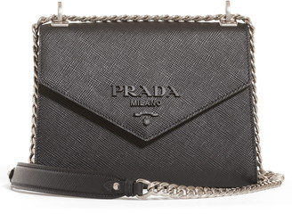 Prada Monochrome Saffiano Leather Shoulder Bag