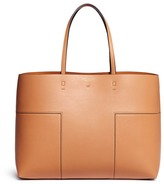 Tory Burch 'Block-T' patchwork leather tote
