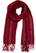 Missoni Chevron Knit Wool Scarf