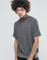 Weekday Eighty Melange Sweatshirt Short Sleeve Turtleneck