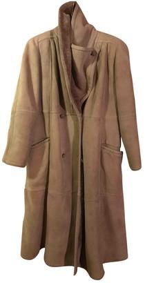 Valentino Khaki Shearling Coat for Women Vintage