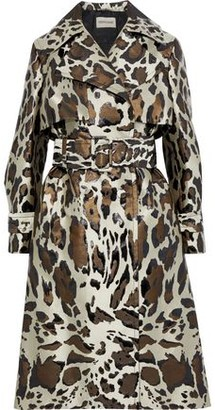 Roberto Cavalli Metallic Leopard-jacquard Trench Coat