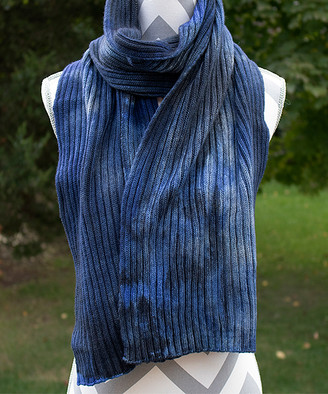 Zen Yarn Garden Women's Accent Scarves - Blue Jeans Hand-Dyed Double-Ribbed Scarf