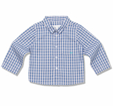 Marie Chantal Fine Cotton Check Shirt - Baby