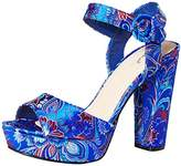 Qupid Women's Platform Heeled Sandal,8 M US
