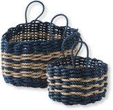 L.L. Bean Nautical Rope Basket, Triple Stripe