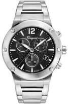 Salvatore Ferragamo 44mm F-80 Bracelet Watch, Black