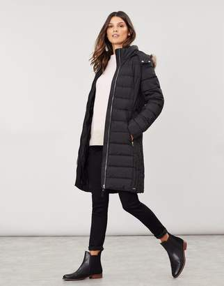 Joules Holmbury Long Padded Coat with Belt
