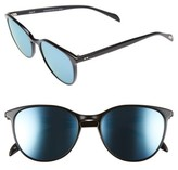 Salt Women's Kiani 53Mm Polarized Retro Sunglasses - Black/ Blue Mirror
