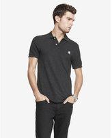 Express fitted small lion pique polo