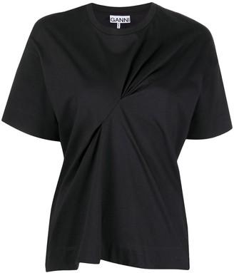 Ganni ruched detail T-shirt
