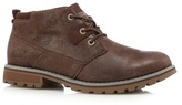 Caterpillar Dark Brown Leather 'harold' Chukka Boots