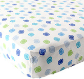 Luvable Friends Deco Squares Fitted Crib Sheet