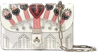 Valentino Love Blade Embellished Leather Shoulder Bag