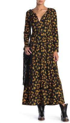 Free People Tiers of Joy Long Sleeve Prairie Maxi Dress