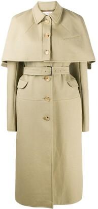 Nina Ricci Detachable-Cape Trench Coat