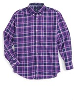 Tailorbyrd Boy's Plaid Dress Shirt