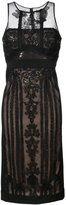 Marchesa lace embroidered midi dress
