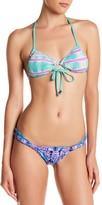 Gypsy 05 Gypsy05 Tie-Dye Print Keyhole Triangle Bikini Top