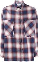 IRO oversized check shirt