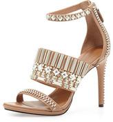 Rachel Roy Padma Embellished Sandal, Almond