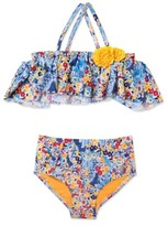 Hula Star Girl's 'Heavy Petal' Two-Piece Swimsuit
