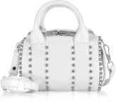 Alexander Wang Mini Rockie Ball Studd White Leather Satchel