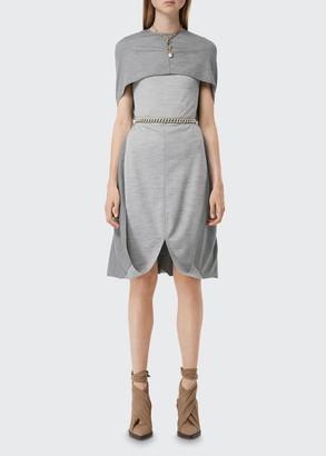 Burberry Jersey Cape Dress
