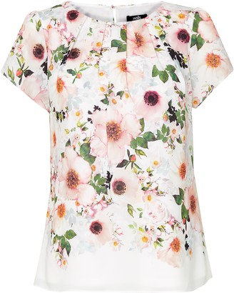 Wallis Ivory Floral Print Shell Top